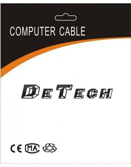 Кабел DeTech USB F - USB Micro, 30см, Черен -18080