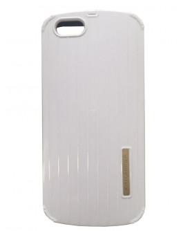 Протектор DeTech за iPhone 6 Plus, Пластмаса, Бял - 51203
