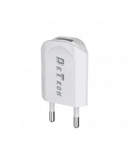 Мрежово зарядно устройство, DeTech, DE-11, 5V/1A 220V, 1 x USB, Бял - 14114