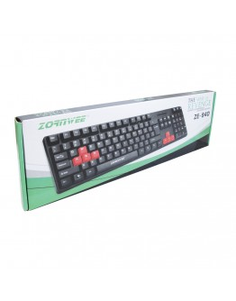 Клавиатура, ZornWee Revenge, USB, Черен - 6071