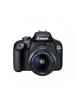 Canon EOS 4000D, black + EF-s 18-55 mm DC III