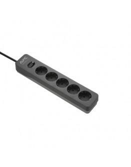 APC Essential SurgeArrest 5 Outlet 2 USB Ports Bla