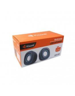 Тонколони, Kisonli V350, 2x3W, USB, Черен- 22061