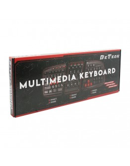 Мултимедийна клавиатура DeTech DE6088, USB, Черен - 6088