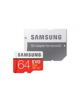 Samsung 64GB micro SD Card EVO+ with Adapter, Clas