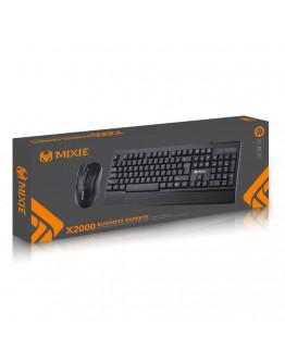 Комплект мишка и клавиатура Mixie X2000, Черен - 6123